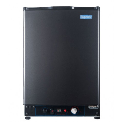 Superior 2 Cubic Foot Propane Gas All Refrigerator Black (LPG, 110V, or 12V DC)