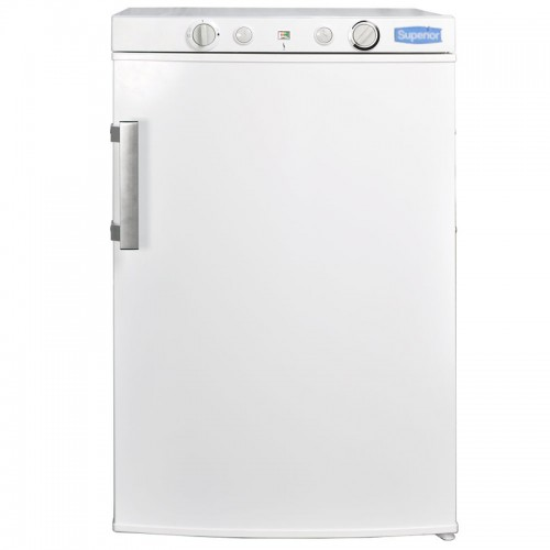 Superior 3.5 Cubic Foot Propane Gas Refrigerator White (LPG, 110V, or 12V DC)