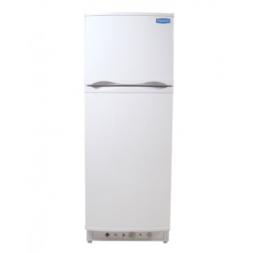 Superior 8 Cubic Foot Propane Electric Gas Refrigerator White (LPG or 110V)
